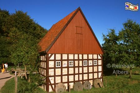 Wassermühle aus Rurup im Freilichtmuseum in Kiel-Molfsee, Molfsee, Kiel, Freilichtmuseum, foreal, Foto, Albers,