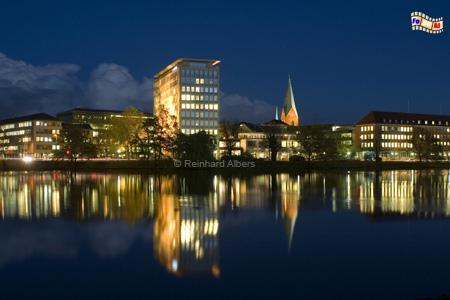 Kleiner Kiel am Abend, Kiel, Kleiner Kiel, HSH-Nordbank, Albers, Foto, foreal,