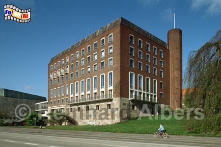 Das Kieler Schloss ist ein Neubau aus der Nachkriegszeit., Kiel, Schloss, Albers, Foto, foreal,
