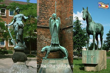 Kiel Denkmäler von links: