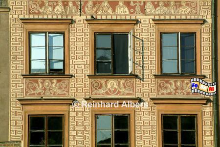 Hausfassade am Alten Markt, Polen, Warschau, Warszawa, Foto, foreal, Alter Markt, Marktplatz, Altstadt