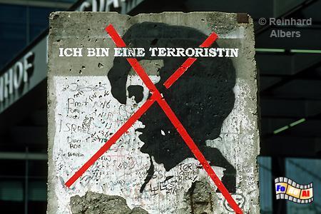 Mauersegment auf dem Potsdamer Platz, Berlin, Potsdamer, Platz, Mauer