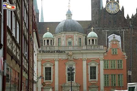 Die Königliche Kapelle (Kaplica Królewska) 1678-81 stiftete der Polnische Johann Sobieski für die Katholiken in der Stadt Danzig., Polen, Danzig, Gdańsk, Rechtstadt, Kapelle, Kaplica, Albers, Foto, foreal
