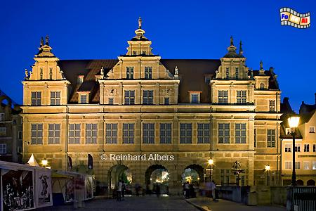 Zielona Brama (Grünes Tor) - Ostseite zur Mottlau., Polen, Danzig, Gdańsk, Grünes Tor, Zielona, Brama, Langer Markt, Albers, Foto, foreal