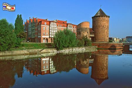 Gdańsk (Danzig) - Brama Stągiewna (Milchkannentor), Polen, Danzig, Gdańsk, Brama, Stągiewna, Milchkannentor, Stadtbefestigung, Albers, Foto, foreal