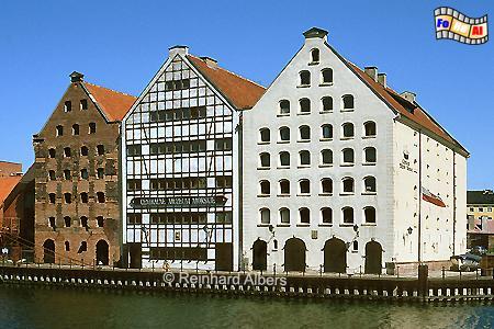 Gdańsk (Danzig) - In den drei ehemaligen Getreidespeichern