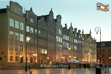 Bürgerhäuser am Długi Targ (Langen Markt)., Polen, Danzig, Gdańsk, Długi, Targ, Langer, Markt, Rechtstadt, Albers, Foto, foreal