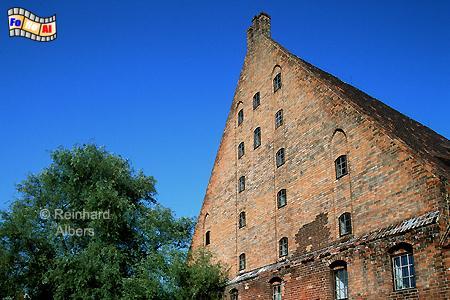 Giebel der Großen Mühle in der Altstadt., Polen, Danzig, Gdańsk, Altstadt, Große Mühle, Radaune, Albers, Foto, foreal