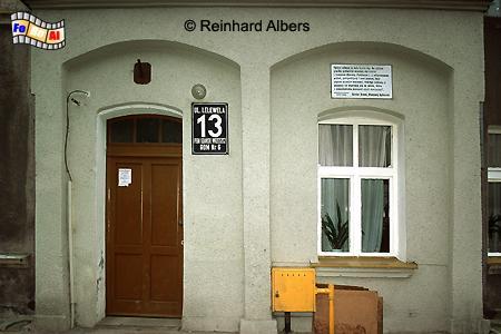 Geburtshaus von Günter Grass  (16. Okt. 1927) in der Ulica Lelewela  (Labesweg) im Stadtteil Wrzeszcz (Langfuhr)., Polen, Danzig, Gdańsk, Grass, Langfuhr, Geburtshaus, Albers, foreal, Foto