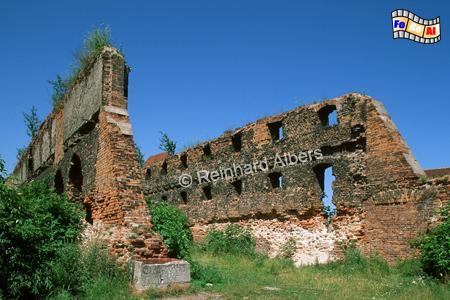 Gdańsk (Danzig) - Auf der Speicherinsel (Wyspa Spichrzów) wurden im Zweiten Weltkrieg 175 Speicher zerstört. Eine Ruine ist noch erhalten geblieben., Polen, Danzig, Gdańsk, Motława, Mottlau, Speicher, Wyspa, Spichrzów, Speicherinsel, Albers, Foto, foreal
