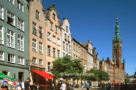 Die Ulica Długa (Langgasse) ist die Fortsetzung des Langen Marktes., Polen, Danzig, Gdańsk, Rechtstadt, Ulica Długa, Langgasse, Albers, Foto, foreal