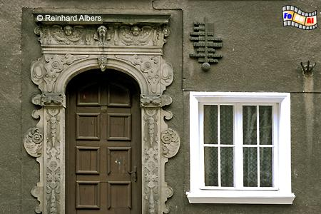 Geburtshaus des Physikers Daniel Gabriel Fahrenheit (24. Mai 1686) in der Hundegasse (Ogarna)., Polen, Danzig, Gdańsk, Rechtstadt, Hundegasse, Fahrenheit, Albers, Foto, foreal