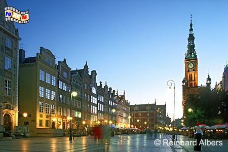 Der Długi Targ (Langer Markt) bildet das Herzstück der historischen Rechtstadt., Polen, Danzig, Gdańsk, Długi, Targ, Langer, Markt, Rechtstadt, Albers, Foto, foreal