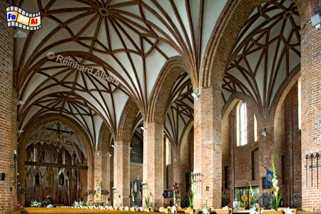 Die 1514 vollendete Brigittenkirche erlangte 1980 im Zusammenhang mit der Gewerkschaft Solidarność große Bekanntheit., Polen, Danzig, Gdańsk, Altstadt, Brigittenkirche, Albers, Foto, foreal