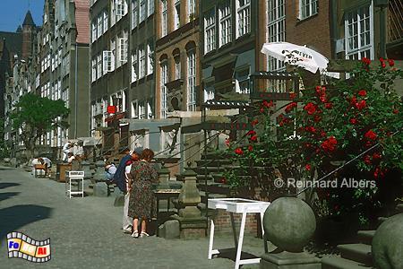 Ulica Mariacka (Frauengasse) mit den schönsten Beischlägen Danzigs., Polen, Danzig, Gdańsk, Rechtstadt, Frauengasse, Ulica, Mariacka, Albers, Foto, foreal