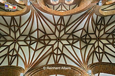 Gewölbe in Brigttenkirche, Polen, Danzig, Gdańsk, Altstadt, Brigittenkirche, Albers, Foto, foreal