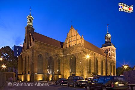 Die 1514 vollendete Brigittenkirche erlangte 1980 im Zusammenhang mit der Gewerkschaft Solidarność große Bekanntheit., Polen, Danzig, Gdańsk, Brigittenkirche, Gewerkschaft, Solidarität, Solidarność, Albers, Foto, foreal