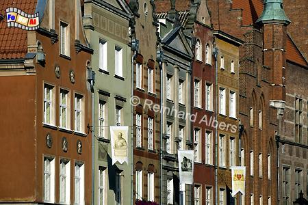 Ulica Długa (Langgasse) - Fassaden der Bürgerhäuser, Polen, Danzig, Gdańsk, Rechtstadt, Ulica Długa, Langgasse, Albers, Foto, foreal