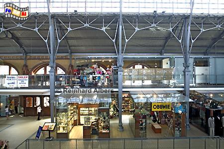 Die historische Dominikanerhalle dient heute als modernes Einkaufszentrum., Polen, Danzig, Gdańsk, Rechtstadt, Dominikanerhalle, Albers, Foto, foreal
