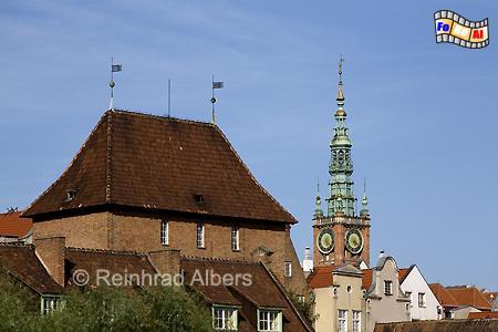Blick auf die Rechtstadt mit dem Rathausturm., Polen, Danzig, Gdańsk, Rechtstadt, Albers, Foto, foreal