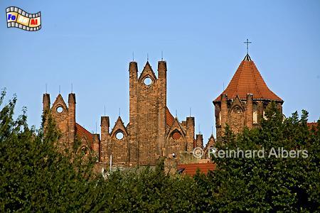 Blick auf die Giebel der Nikolaikirche, Polen, Danzig, Gdańsk, Rechtstadt, Nikolaikirche, Albers, Foto, foreal