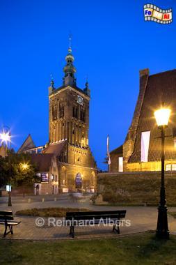 Gdańsk (Danzig) - Die Katharien-Kirche in der Altstadt gilt als die älteste Kirche der Stadt. Baubeginn war vermutlich 1227., Polen, Danzig, Gdańsk, Altstadt, Katharinen-Kirche, Albers, Foto, foreal
