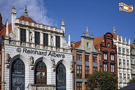 Im Dwór Artusa (Artushof) am Długi Targ (Langen Markt) traf sich früher die Oberschicht trank Bier und besiegelte gleichzeitig wichtige Geschäfte., Polen, Danzig, Gdańsk, Dwór, Artusa, Artushof, Abraham, Blocke, Albers, Foto, foreal