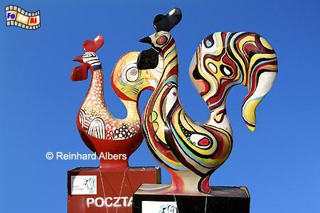 Hähne als Symbol des Dominikanermarktes, Polen, Danzig, Gdańsk, Rechtstadt, Dominikanermarkt, Albers, Foto, foreal