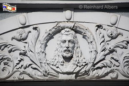 Rechtstadt - Fassadendetail, Polen, Danzig, Gdańsk, Rechtstadt, Kohlengasse, Albers, Foto, foreal