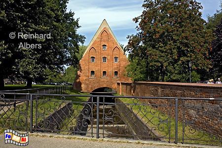 Kleine Mühle am Radaune-Kanal., Polen, Danzig, Gdańsk, Altstadt, Große Mühle, Radaune, Mühle, Albers, Foto, foreal