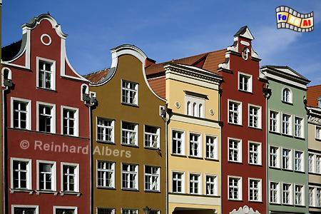 Bürgerhäuser in Ulica Piwna (Jopengasse)., Polen, Danzig, Gdańsk, Rechtstadt, Jopengasse, Piwna. Albers, Foto, foreal