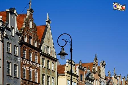 Bürgerhäuser am Długi Targ (Langer Markt)., Polen, Danzig, Gdańsk, Długi, Targ, Langer, Markt, Rechtstadt, Albers, Foto, foreal