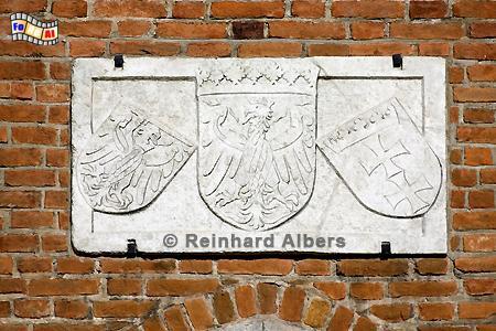 Wappen am Frauentor, Polen, Danzig, Gdańsk, Rechtstadt, Frauentor, Albers, Foto, foreal