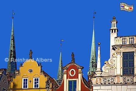 Giebel am Langen Markt (Długi Targ ), Polen, Danzig, Gdańsk, Długi, Targ, Langer, Markt, Rechtstadt, Albers, Foto, foreal