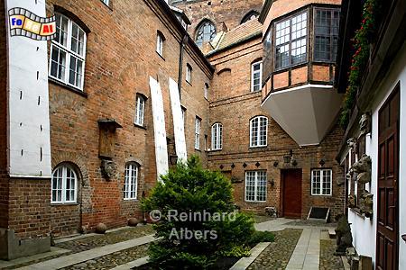 Königliche Kapelle Innenhof, Polen, Danzig, Gdańsk, Rechtstadt, Kapelle, Kaplica, Albers, Foto, foreal