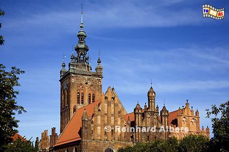 Katharinenkirche, die älteste Kirche in Danzig, Polen, Danzig, Gdańsk, Rechtstadt, Katharinenkirche, Albers, Foto, foreal