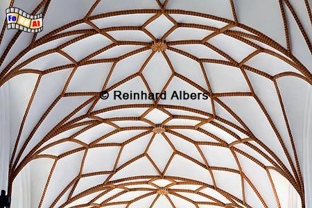 Kreuzrippengewölbe in der Trinitaskirche, Polen, Danzig, Gdańsk, Vorstadt, Trinitaskirche, Albers, Foto, foreal