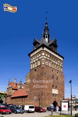 Der Stockturm als Teil der früheren Stadtbefestigung geht auf das 14. Jh. zurück, Polen, Polska, Danzig, Gdańsk, foreal, Albers, Stockturm,