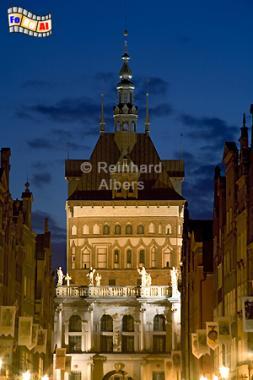 Stockturm von der Langgasse gesehen, Polen, Danzig, Gdańsk, Stockturm, Peinkammer, Albers, Foto, foreal