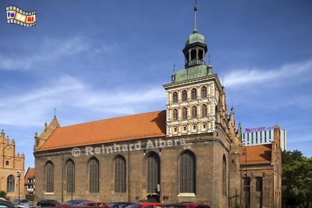 Brigittenkirche in der Altstadt., Polen, Danzig, Gdańsk, Altstadt, Brigittenkirche, Albers, Foto, foreal