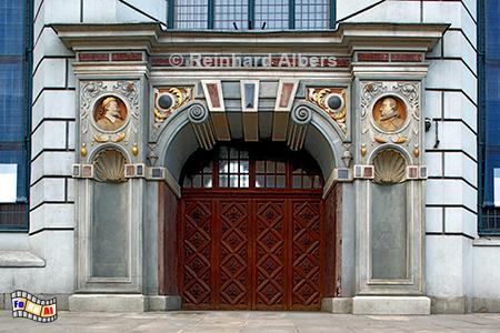 Dwór Artusa (Artushof) am Długi Targ (Langen Markt), Polen, Danzig, Gdańsk, Dwór, Artusa, Artushof, Abraham, Blocke, Albers, Foto, foreal