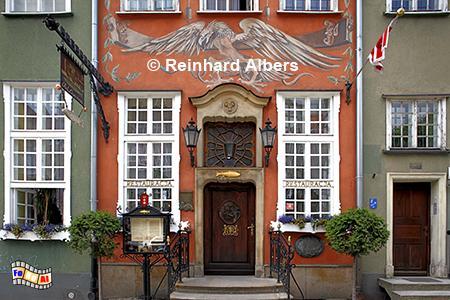 Gdańsk (Danzig) - Eingang des Restaurants: