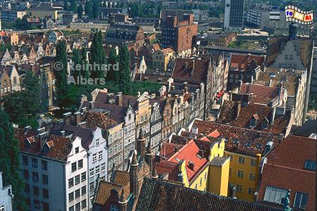 Die Rechtstadt von oben, Polen, Danzig, Gdańsk, Rechtstadt,, Überblick, Albers, Foto, foreal