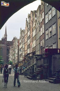 Ulica Mariacka (Frauengasse), Polen, Danzig, Gdańsk, Rechtstadt, Frauengasse, Ulica, Mariacka, Frauentor, Brama, Albers, Foto, foreal, Foto