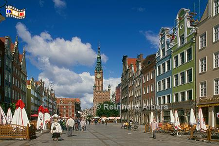 Der Długi Targ (Langer Markt), heute Fußgängerzone, Polen, Danzig, Gdańsk, Długi, Targ, Langer, Markt, Rechtstadt, Albers, Foto, foreal