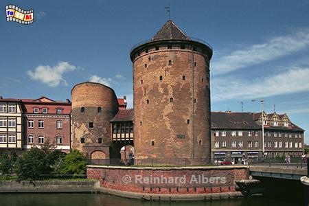 Gdańsk (Danzig) - Brama Stągiewna (Milchkannentor), Polen, Danzig, Gdańsk, Brama, Stągiewna, Milchkannentor, Stadtbefestigung, Albers, Foto, foreal,