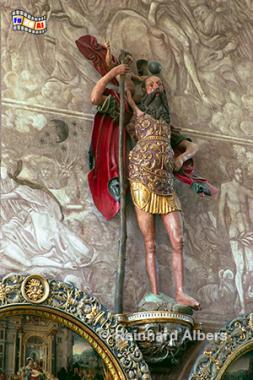 Dwór Artusa (Artushof) - Figur des Heiligen Christopherus., Polen, Danzig, Gdańsk, Długi, Targ, Langer, Markt, Ratusz,, Artushof, Christopherus, Rechtstadt, Albers, Foto, foreal,