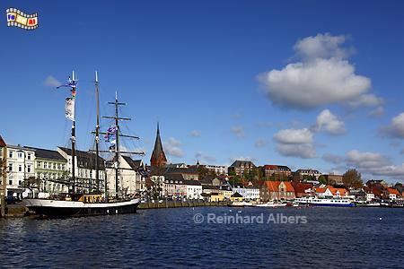 Flensburg - Innenstadt mit Förde., Flensburg, Förde, Hafen, Albers, Foto, foreal,