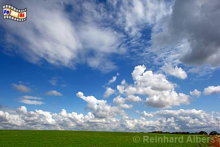 Wolkenformationen in Jütland (Dänemark), Wolken, Himmel, Jütland, Dänemark, Albers, Foto, foreal,