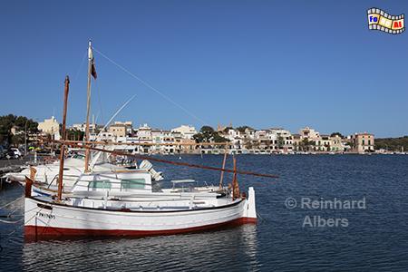Hafen von Portocolom, Mallorca, Portocolom, Hafen, Balearen, Mittelmeer, Albers, Foto, foreal,